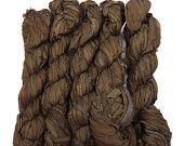 SALE New! Sari Silk Ribbon, 100g skein, Walnut