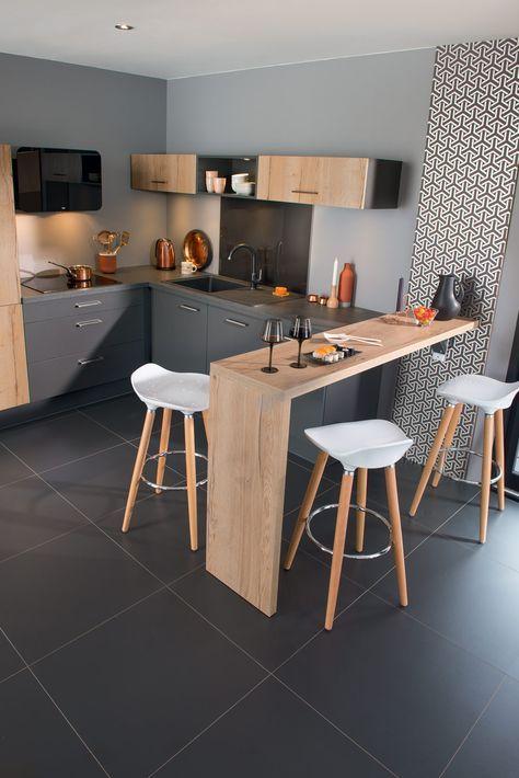Cuisine quip e cam l on nature chic photo cuisine id e d co cuisine ouverte cuisine - Cuisine deco design ...