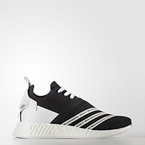 d0db12b4b adidas Originals Men White Mountaineering NMD R2 Primeknit Shoes Core Black Footwear  White (CG3648)
