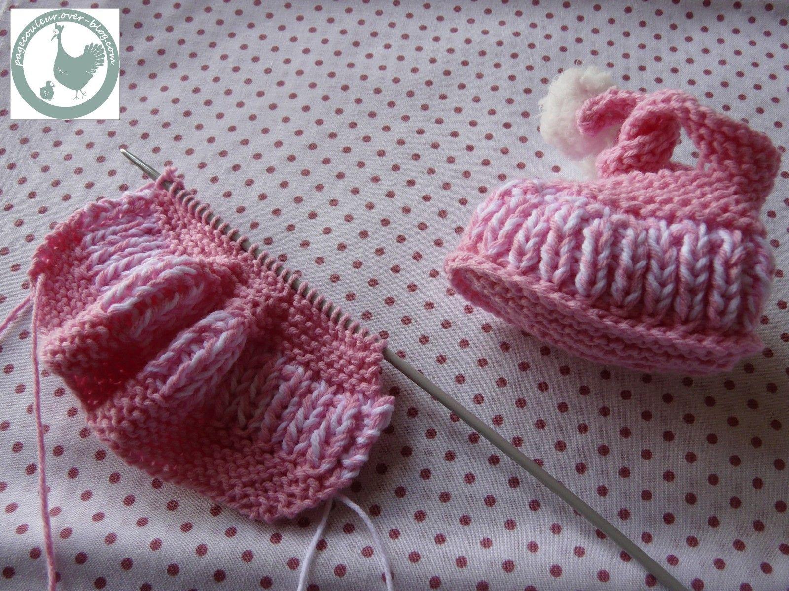 tuto chaussons naissance   Tricot, Tricot et crochet et Chaussons bébé tricot facile