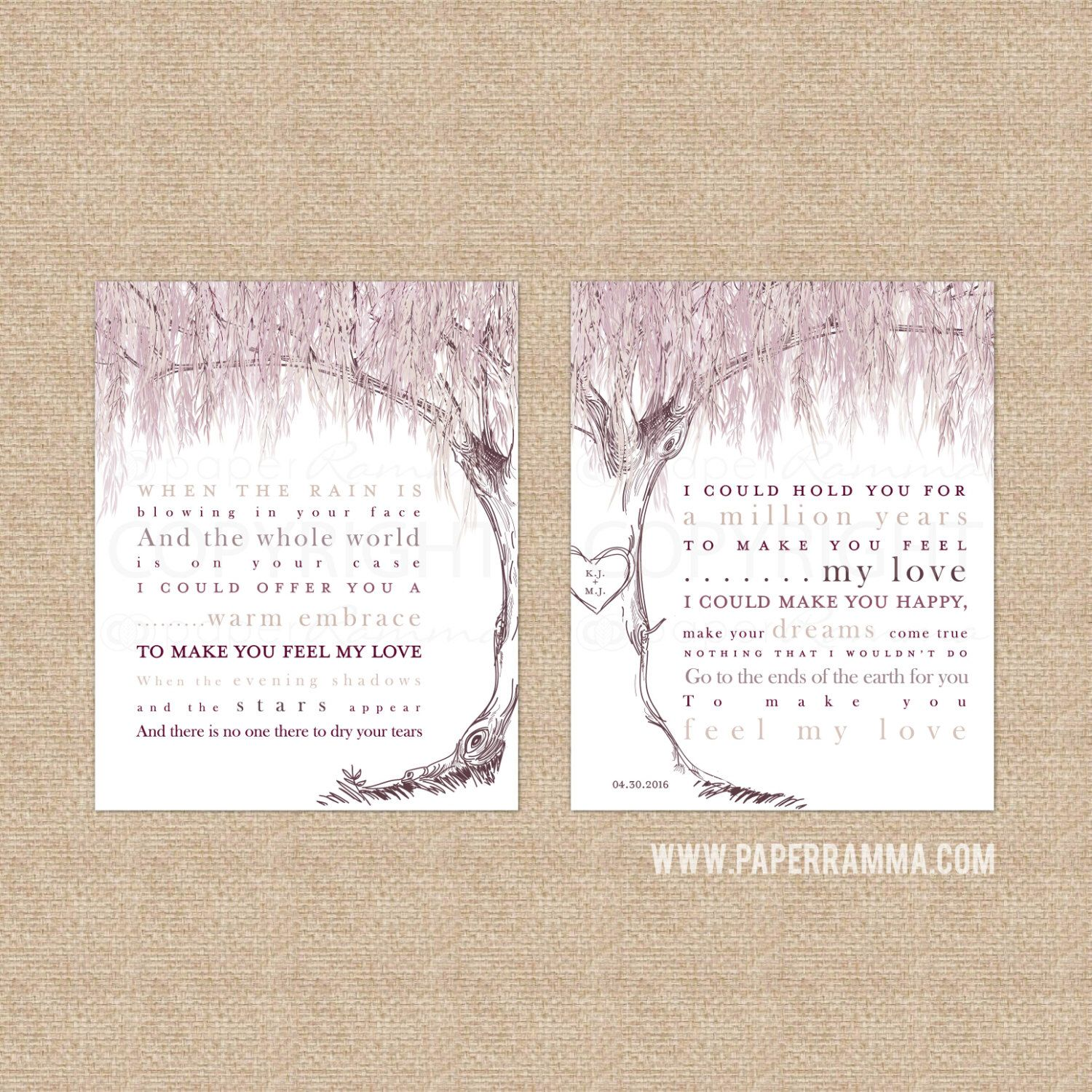 Delightful Willow Anniversary, Wedding Song Lyrics, Song Lyric Art, Anniversary,  Willow Tree Art