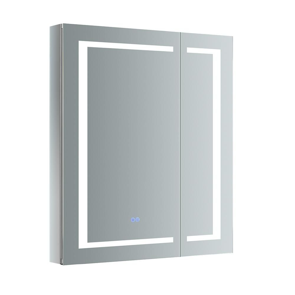 Fresca Spazio 30 In W X 36 In H Recessed Or Surface Mount Medicine Cabinet With In 2020 Surface Mount Medicine Cabinet Bathroom Medicine Cabinet Interior Led Lights