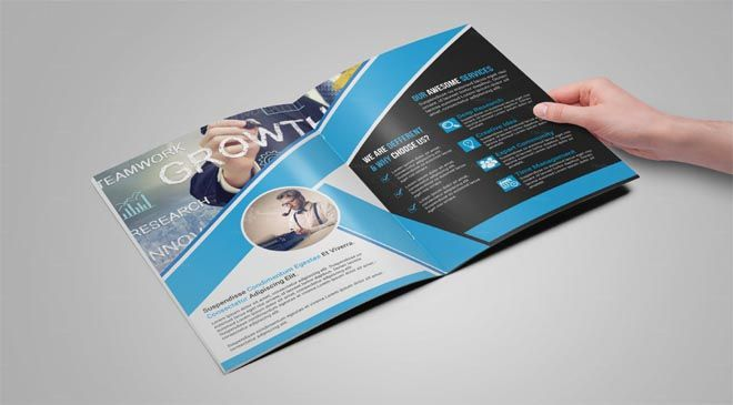 Photo Realistic Corporate Brochure Template Designs