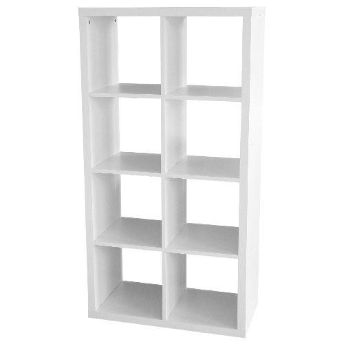 Bibliotheque 8 Cases Mobilier De Salon Meuble Rangement Rangement