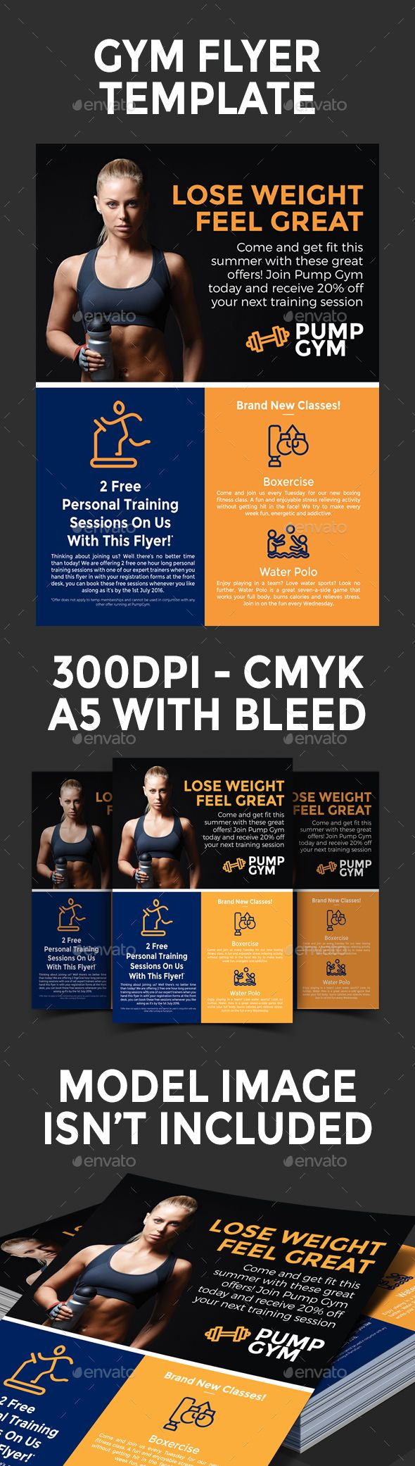 Gym Flyer Design Template Sports Events Flyer Template Psd