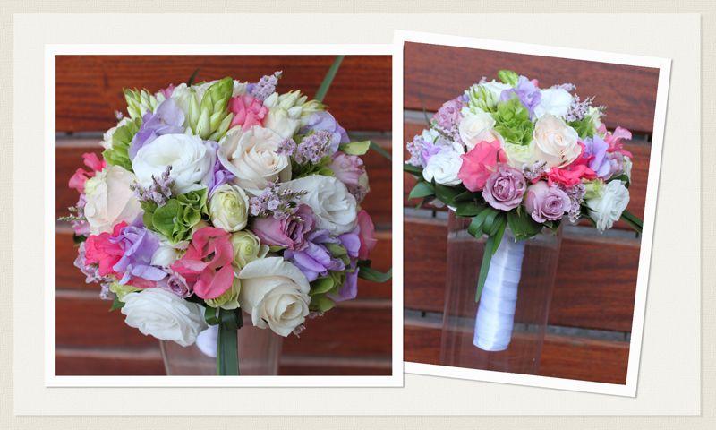 Bianchi Fiori Odorosi.Bouquet Romantico Piselli Odorosi Di Colore Rosa E Glicine Rose