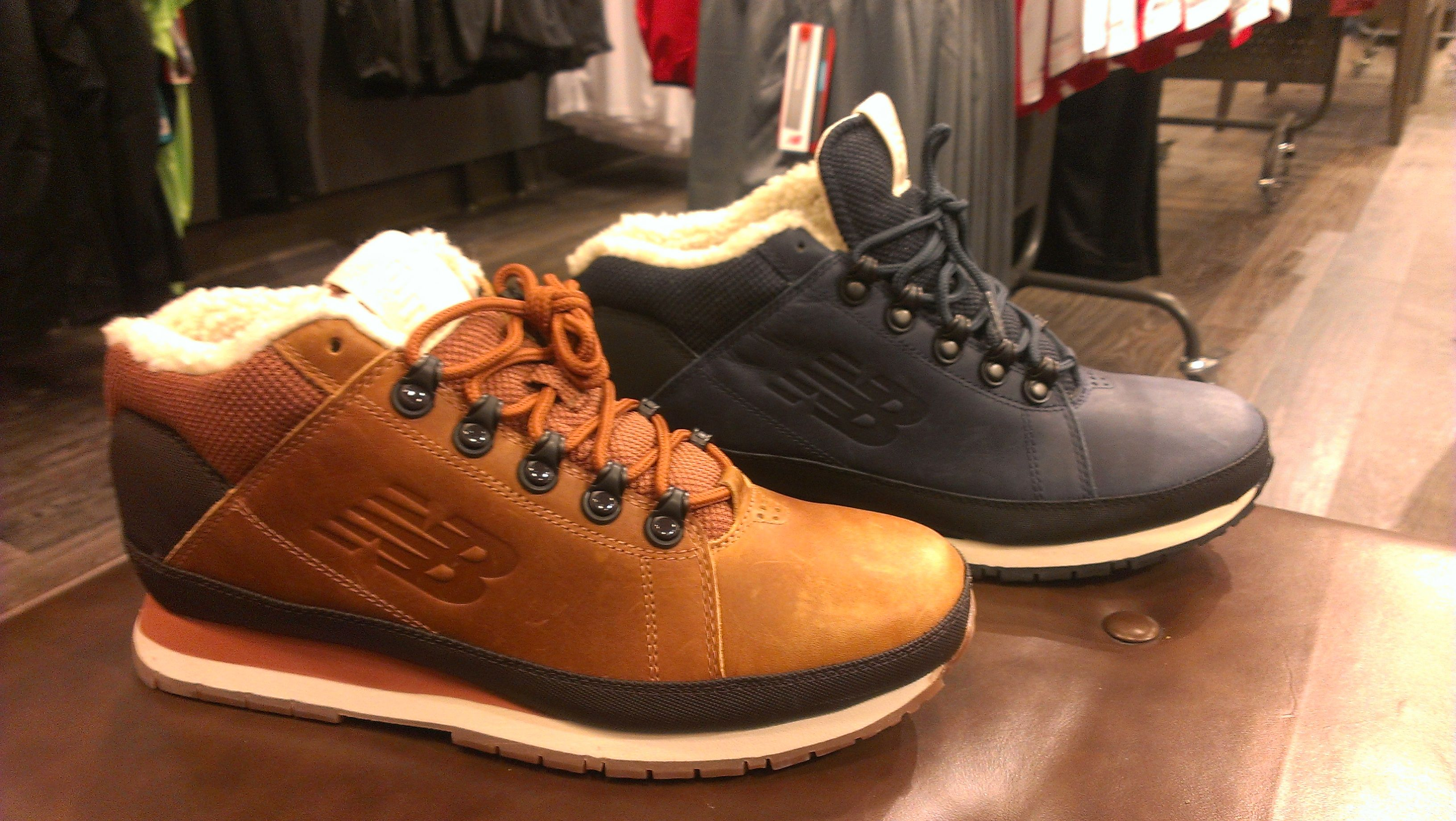 a new Hiker from the New Balance Classic department. Fur and Leather, doesn'