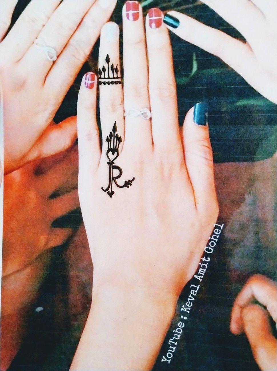 R Letter Mehndi Tattoo Design Mehndi Designs For Fingers Mehndi Designs For Girls Mehndi Art Designs