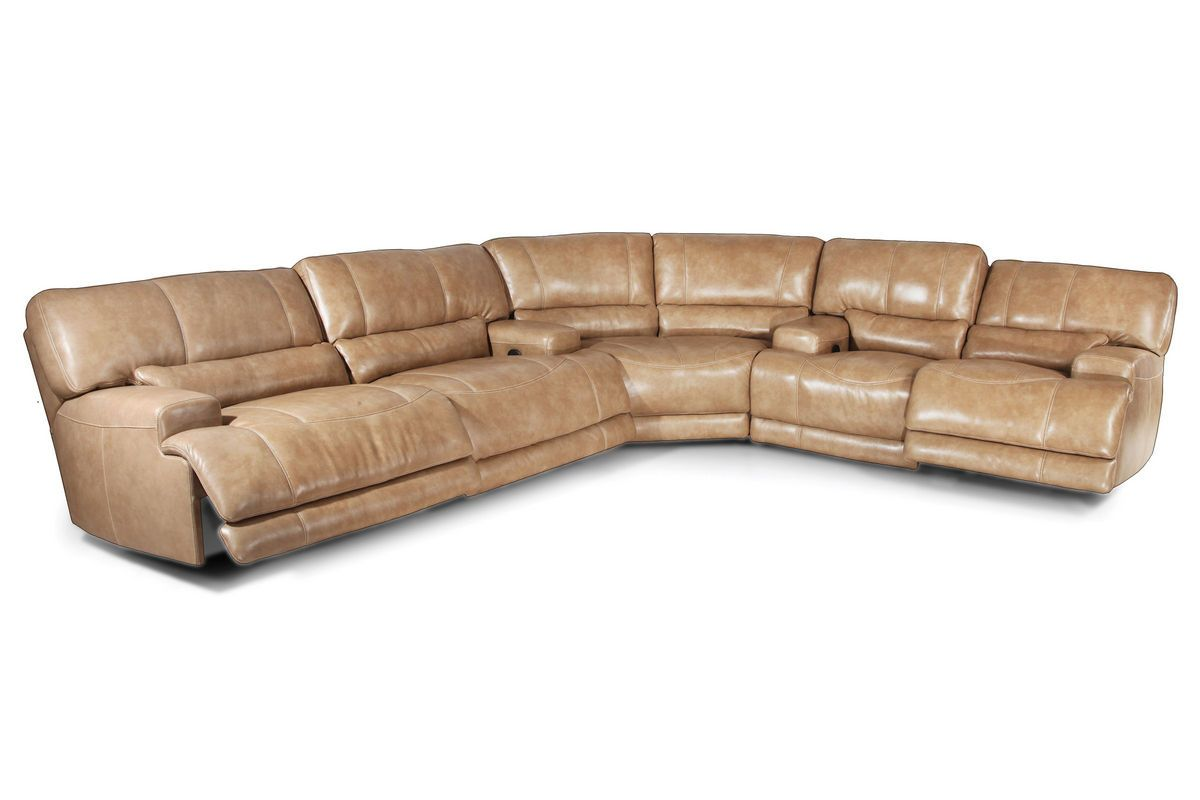 Hamlin 3 Piece Power Reclining Leather Sectional 3 Peice Sectional