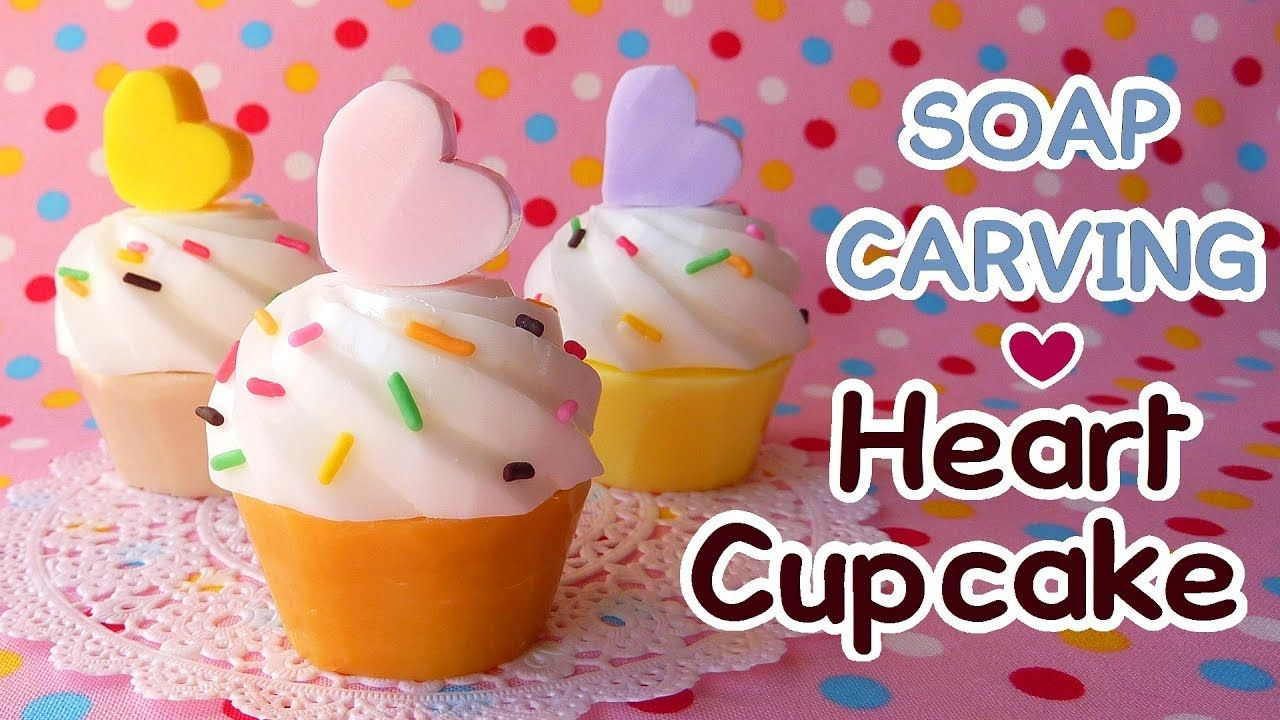 Soap carving heart cupcake easy soap craft diy youtube