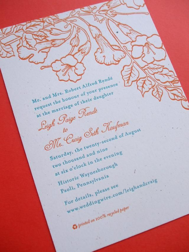 How to Word a Wedding Invite to
