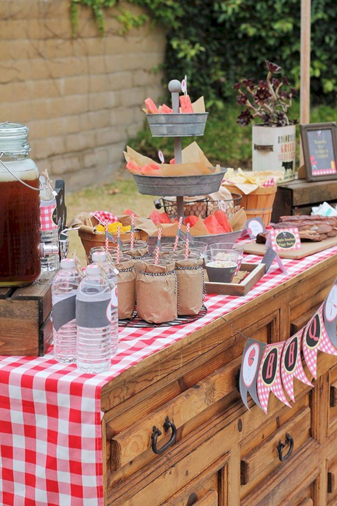 15+ Rustic BBQ Wedding Reception Ideas For Backyard ...