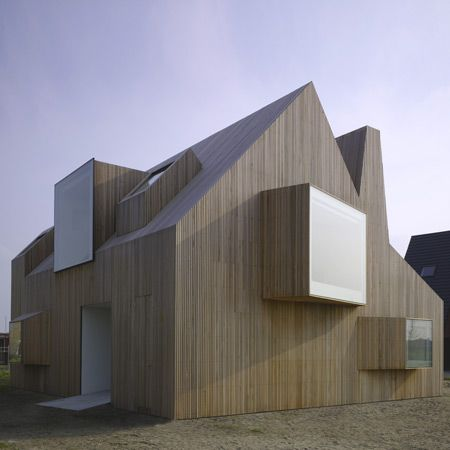 Modern Architecture Wood home design in netherlands - fascinating countryside architecture!