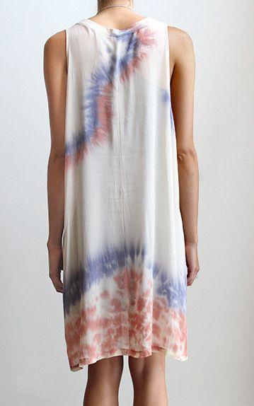 Lacausa Tie Dye Mini Dress