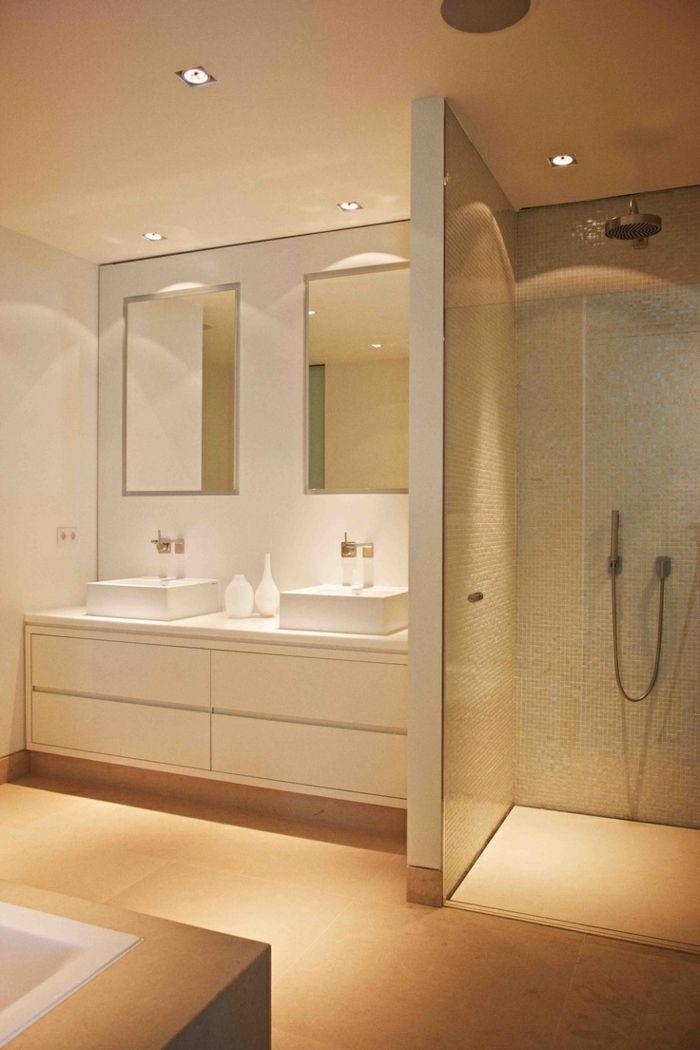 Beaucoup d\u0027idées en photos pour une salle de bain beige DOUCHE A L