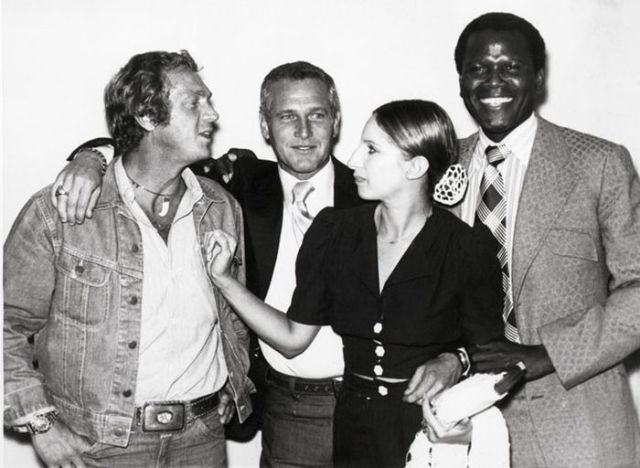 McQueen, Newman, Streisand, and Poitier, 1972