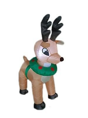 Christmas Decorations Inflatable Reindeer Moose Yard Outdoor 4ft