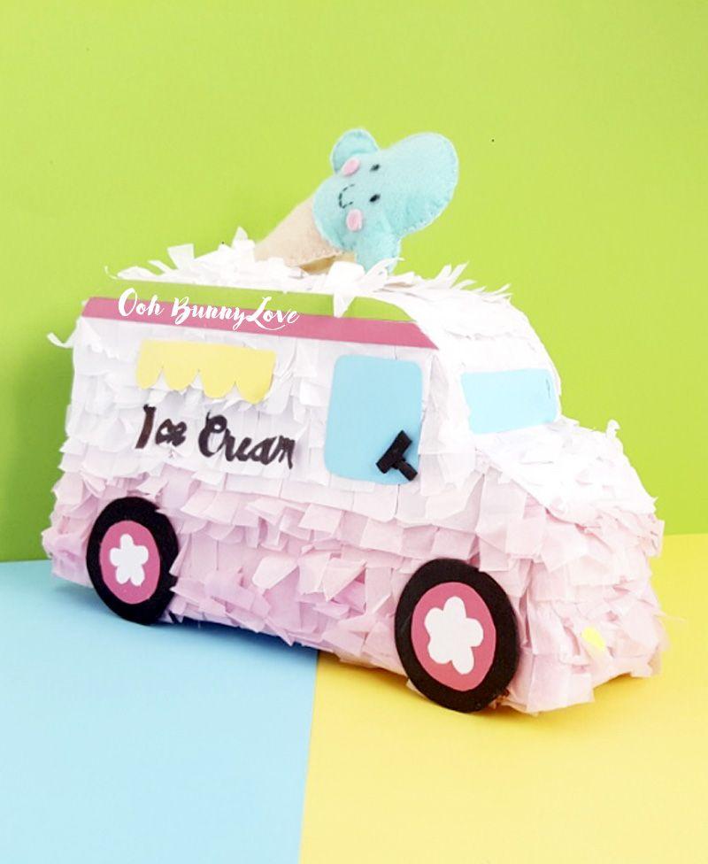 Piñatas personalizadas hechas por encargo. Totalmente a mano y perfectas para fiestas infantiles y adultos.  Piñatas Ice cream truck