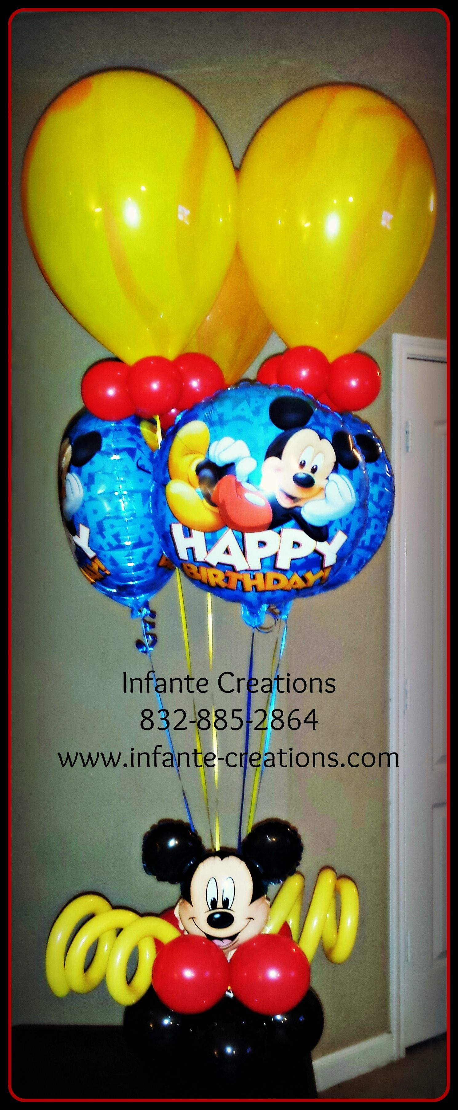 Mickey Mouse Birthday Bouquet MickeyMouse QualatexAgates Birthday