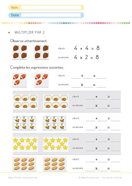 Pingl sur maths ps ms gs cp ce1 ce2 cm1 cm2 - Exercice cm1 table de multiplication ...