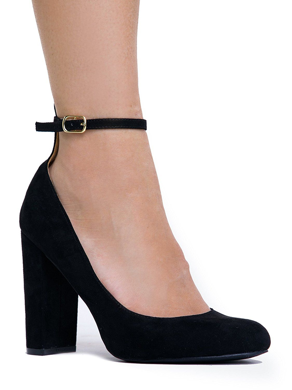Amazon.com | Ankle Strap High Heel