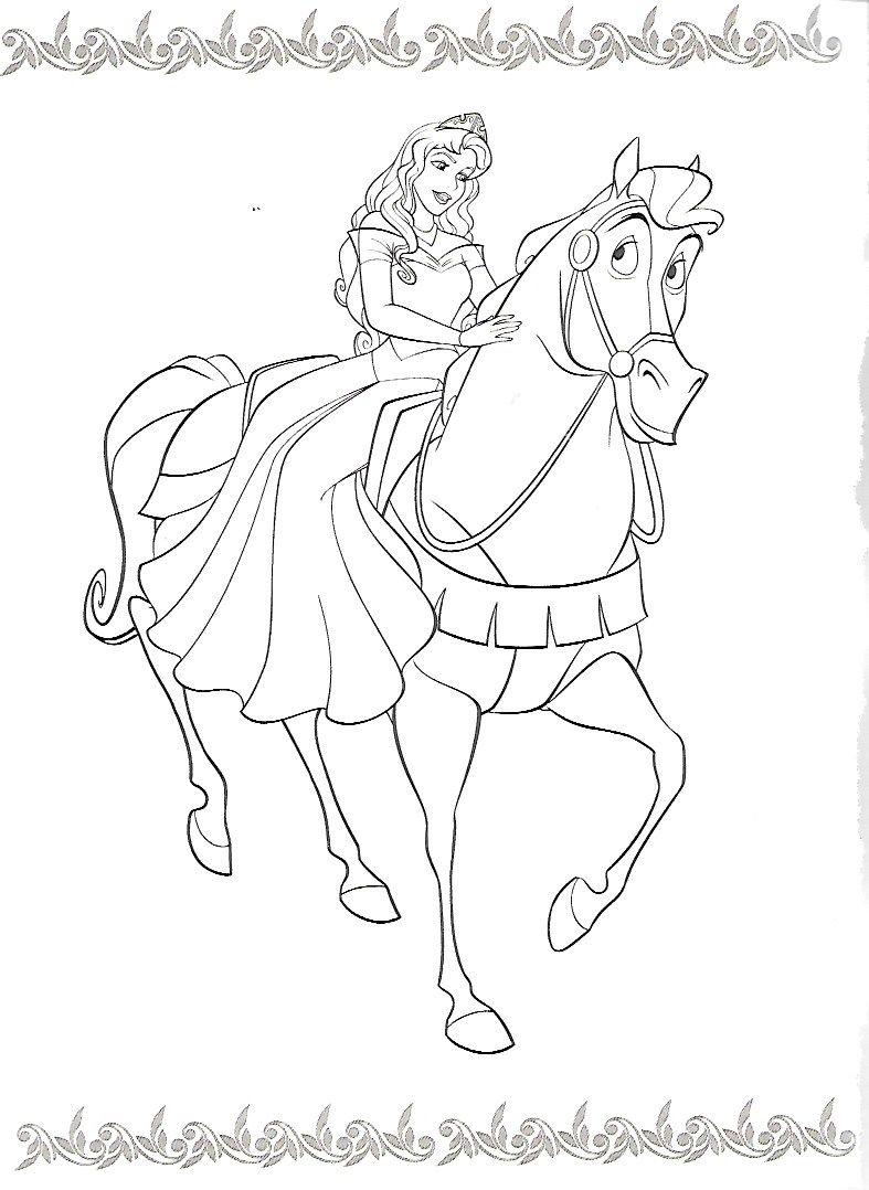 Pin By Melissa Eyster On Disney Horse Coloring Pages Disney Coloring Pages Barbie Coloring Pages