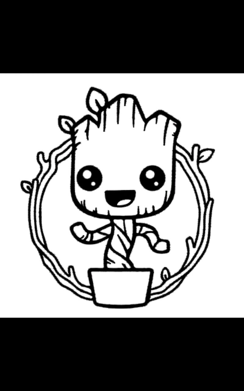 Baby Groot Coloring Page Groot Coloring Pages Baby Groot
