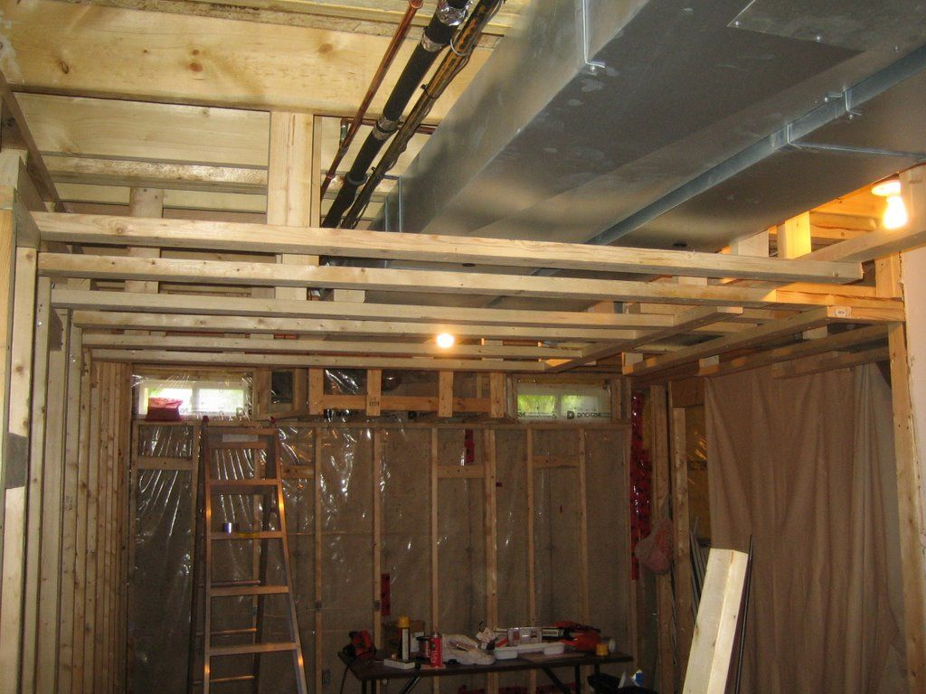 Basement Ceiling Framing Options Low