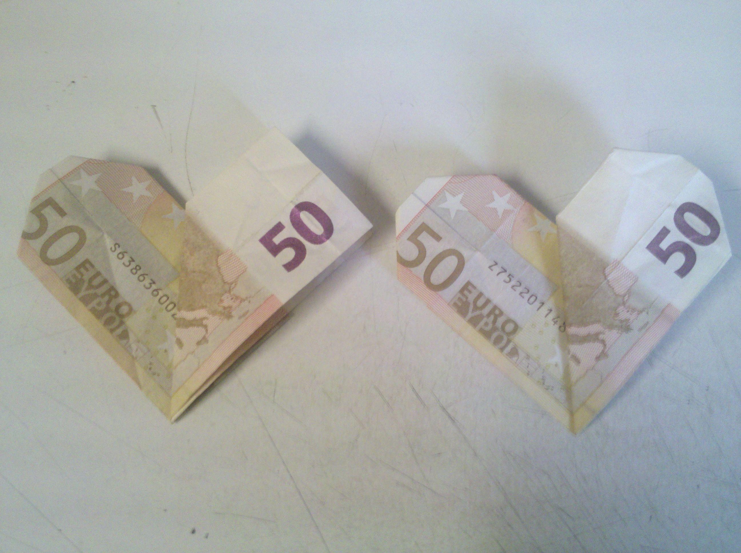 anleitung wie man ein herz aus einem geldschein faltet geldscheine falten origami mit. Black Bedroom Furniture Sets. Home Design Ideas