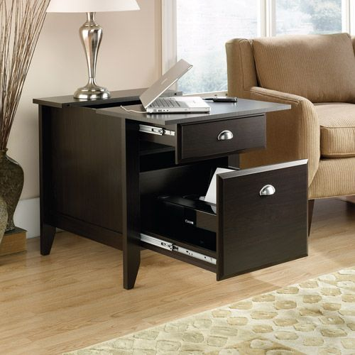 Brilliant End Table! Charging Station In The Drawer, And Holds A Printer In  The