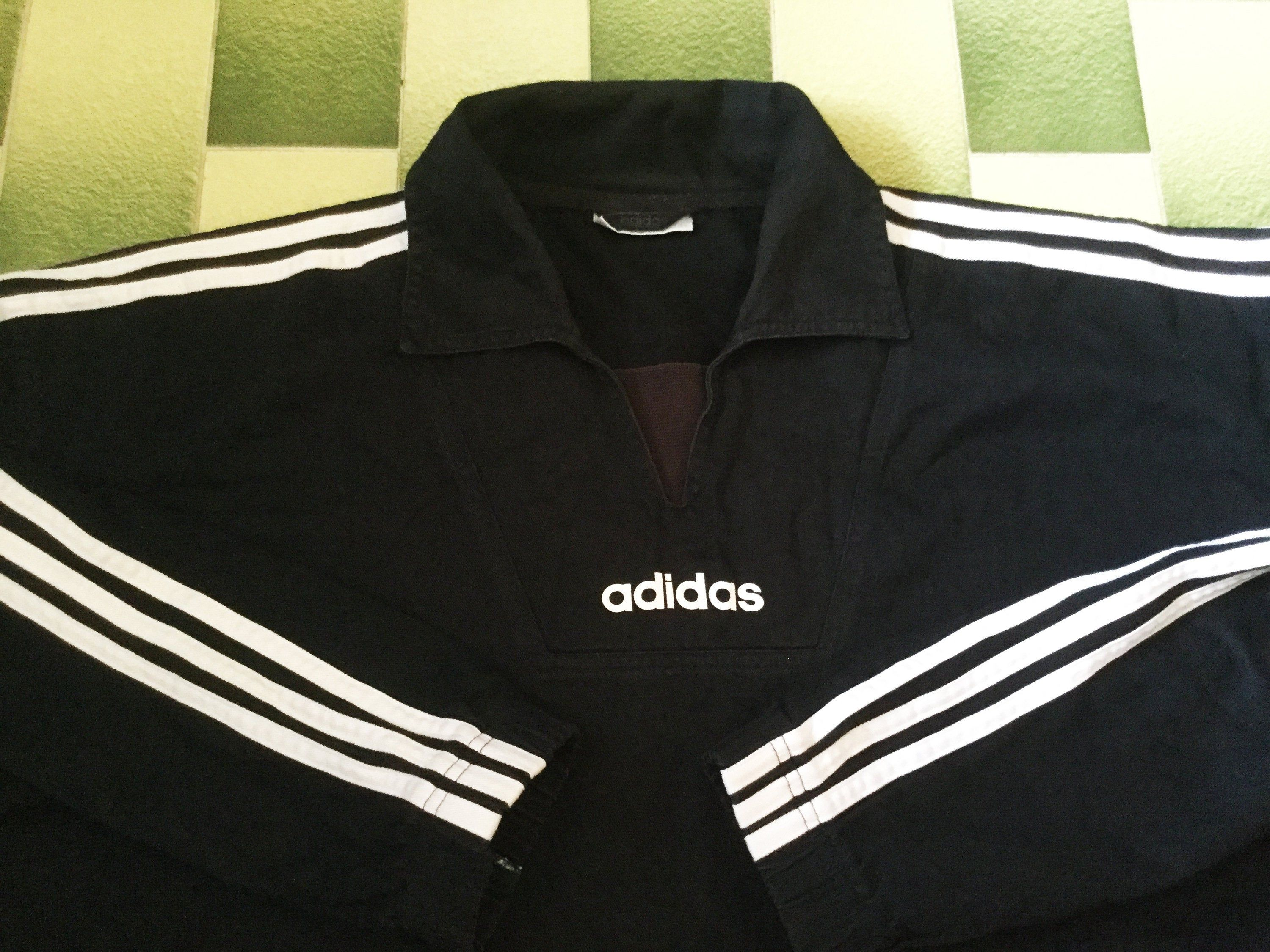 Vintage Adidas Collared V Neck Pullover With Big Adidas Etsy Vintage Adidas Pullover Car Tee Shirts [ 2250 x 3000 Pixel ]