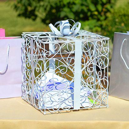 White Reception Gift Card Holder. | Dream wedding ideas | Pinterest ...