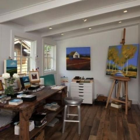 Awesome 22 Home Art Studio Ideas, Interior Design Reflecting Personality And  Artworks