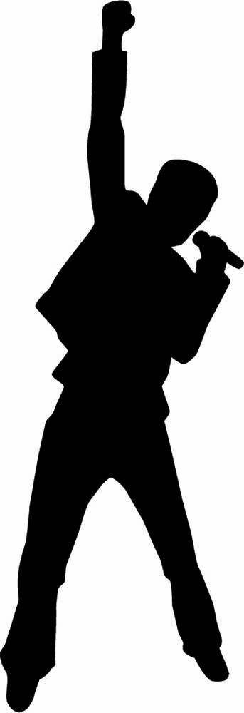 Singer Silhouette | Musical. | Pinterest | Singers ...