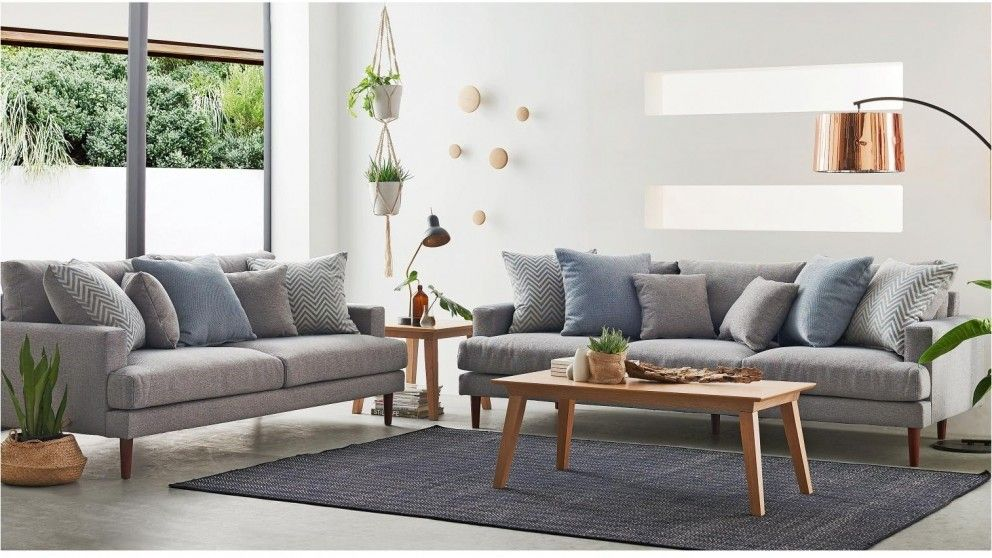 Zenith 3 Seater Fabric Sofa Living Room Furniture Outdoor Bbqs Harvey Norman Australia
