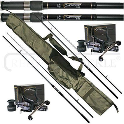 Oakwood 12ft 2 5tc Rods X 2 Double Handle Bait Runner Reel X 2 Carp Holdall Fishing Set Double Handle Fishing Rods And Reels Rod And Reel