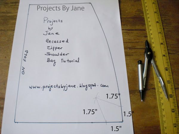 Projects by Jane: This is how I draw and sew a bag dart