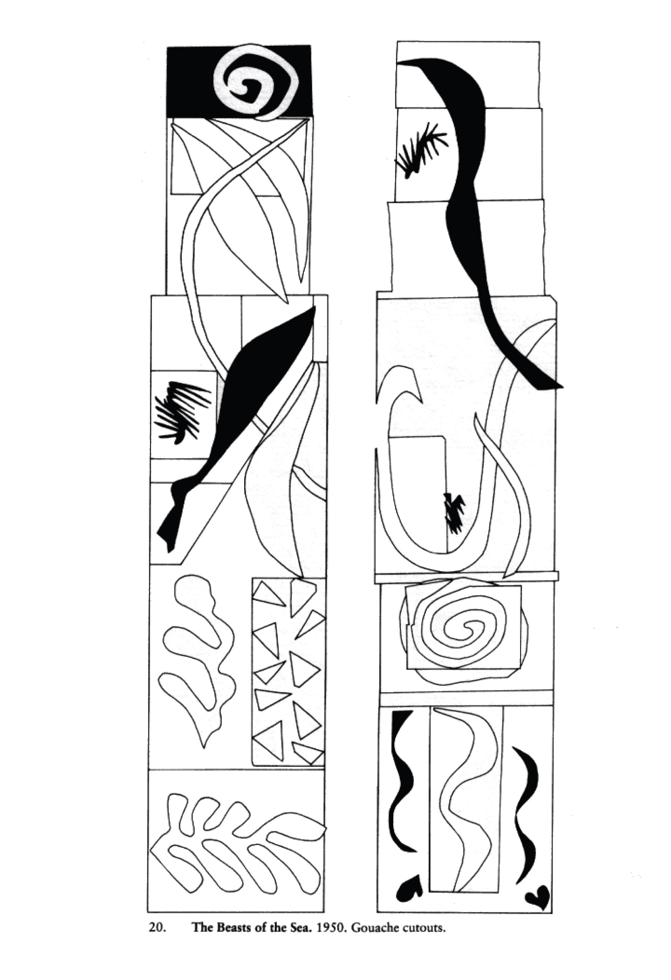 beast of the sea coloring page | Art Matisse/physics color and light ...