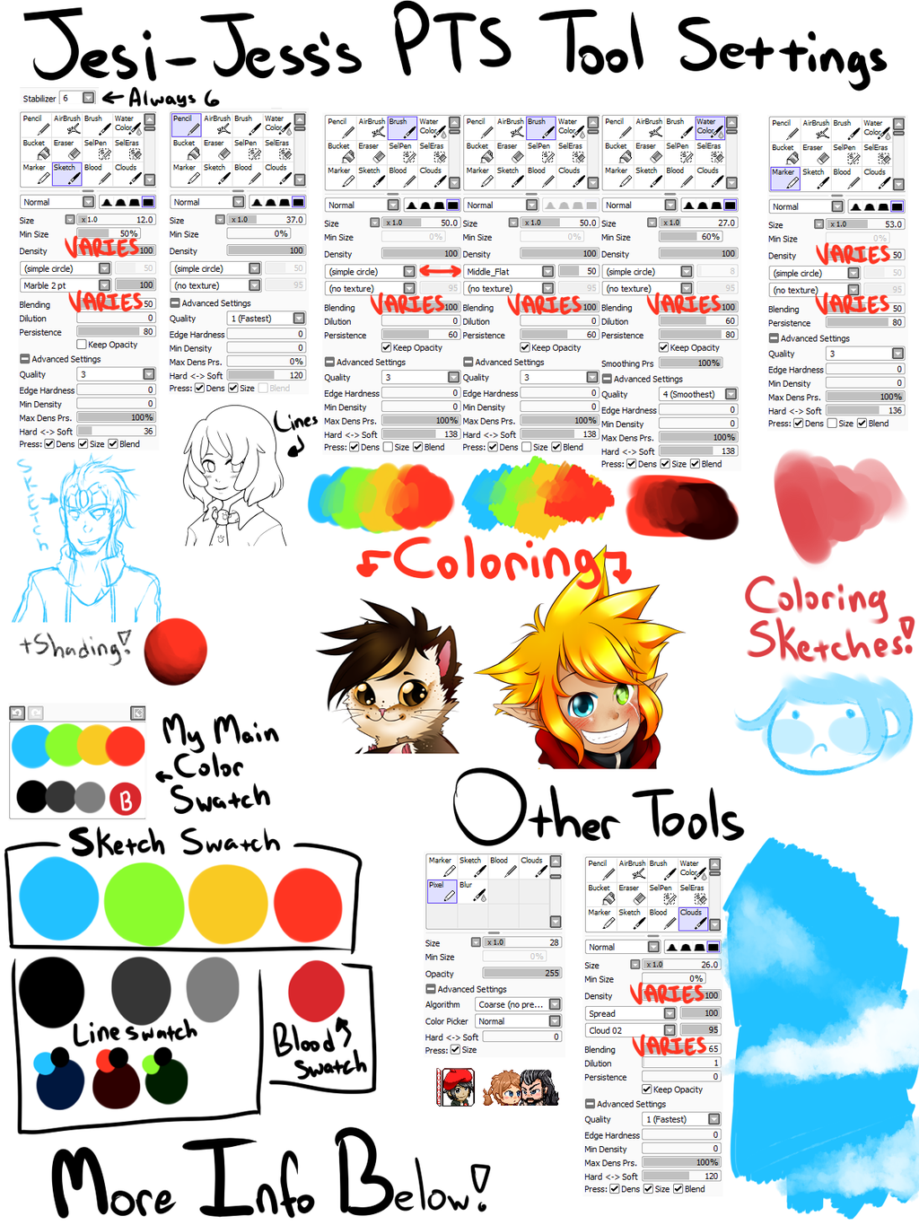 Paint Tool Sai Tools and Swatches v2 by Jesi-Jess deviantart