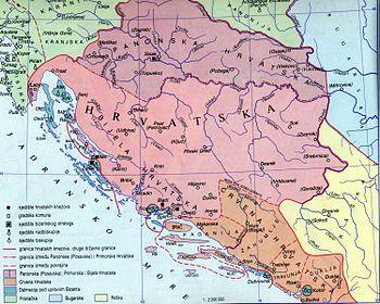 The Real Map Of Croatia Hrvatska Do Drine Bijela Hrvatska I