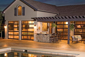 Love The Idea Of Using Garage Doors On The Pool House
