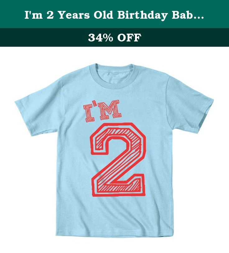 Im 2 Years Old Birthday Baby Shirt 18 Months Blue This Garment Has Been Preshrunk To Minimize Shrinkage