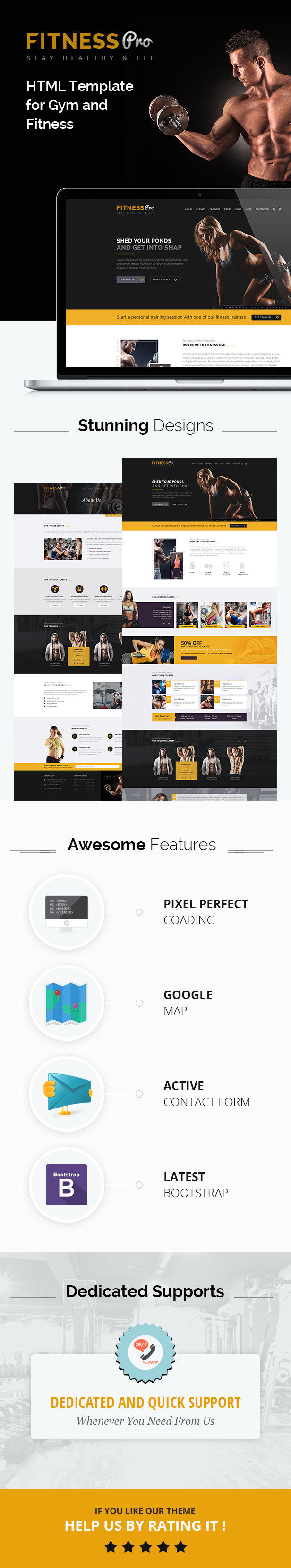 Fitness Pro - Gym Fitness HTML Template (Corporate) Nulled - http ...