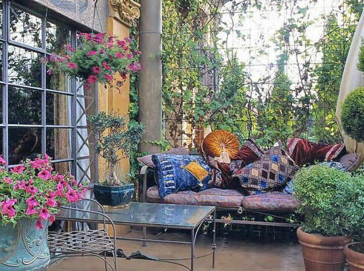 Boho Patio   Outdoor patio designs, Moroccan garden ...