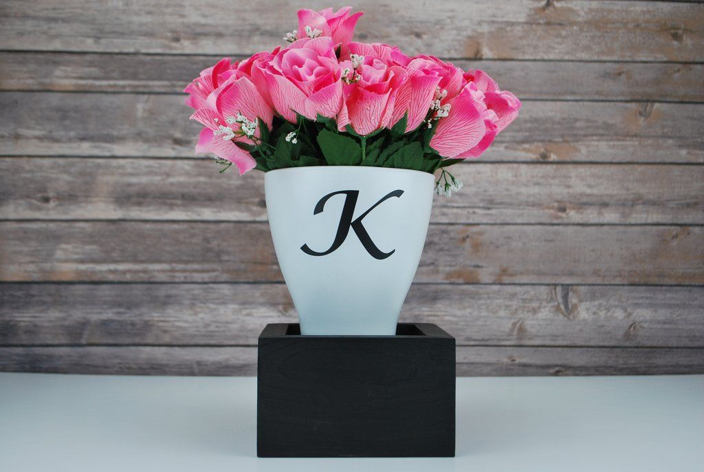 Personalized Flower Vase With Coordinating Display Box Www