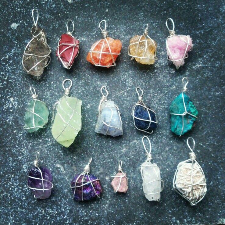 Edelstenen hangers www.creativeartbyjessica.nl #gemstone #edelstenen #sieraden #ketting #crystals
