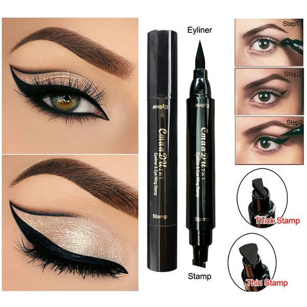 Beauty Essentials 1 Pcs Charming Cat Eye Winged Eyeliner Sexy Eye Cosmetic Seal Stamp Wing Double Head Waterproof Eyeliner Pen Tool To Assure Years Of Trouble-Free Service Back To Search Resultsbeauty & Health