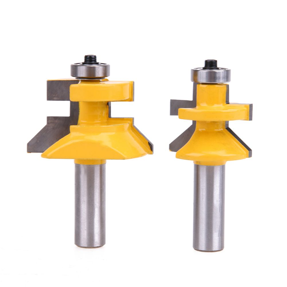 2pcs Carbide 45 Degree Router Bit 1 2 28 6mm Matched Tongue Groove V Notc Woodworking Milling Cutter Tool So Router Bits Router Woodworking Tongue And Groove