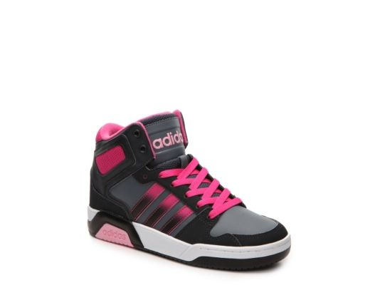 Women\u0027s adidas NEO BB9TIS Girls Toddler \u0026 Youth Basketball Shoe - Black/Pink