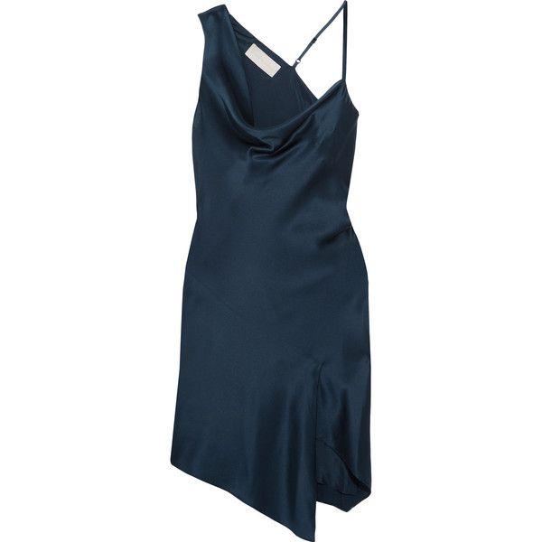 d708bb5f5 Michelle Mason Asymmetric draped silk-satin mini dress (33